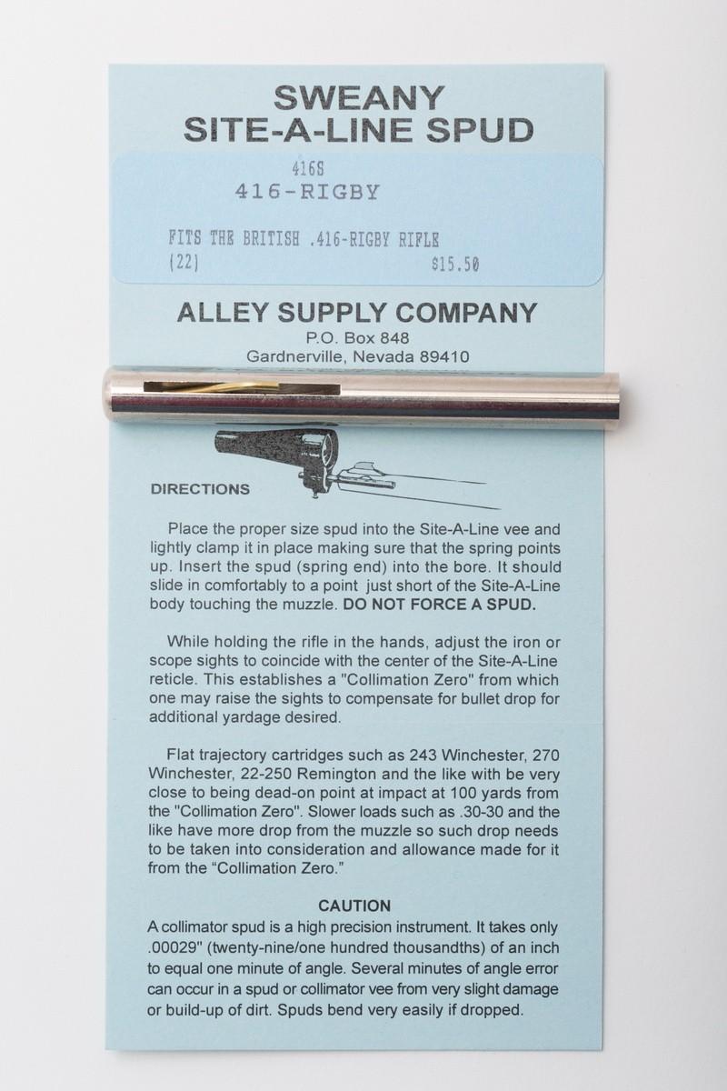 """416S .405"""" Spud, .416 Rigby"""